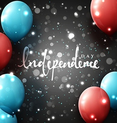 Independence Day Template greeting card with vector image