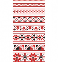 Russian national ornaments vector image