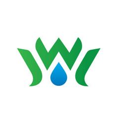 waterdrop leaf ecology logo image vector image vector image