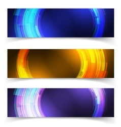 abstract blue colorful website header or banner vector image
