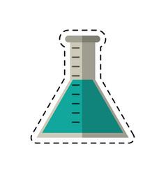 Cartoon laboratory test tube chemistry vector