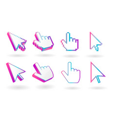 Colored cursor mouse pointer icon vector