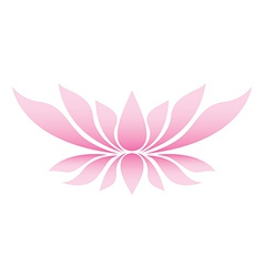 Lotus flower vector image vector image
