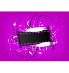 ornamental film background vector image vector image