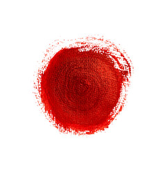 red painted circle vector image
