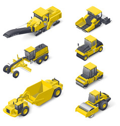 transport for laying and repair of asphalt vector image