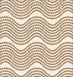 Wave ornament brown palette vector image