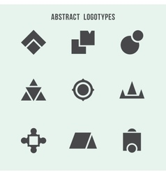 Abstract geometric logo set vector image
