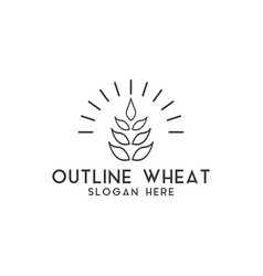 agriculture wheat logo design template isolated vector image