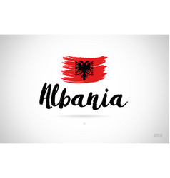 Albania country flag concept with grunge design vector