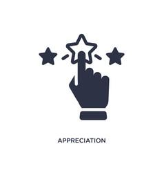 Appreciation icon on white background simple vector