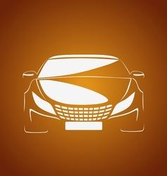 Auto in caramel vector image vector image