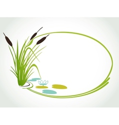 Background with cane vector