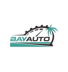 bay automotive logo design symbol vector image