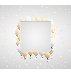 Beige balloons and confetti vector