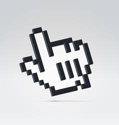 Black digital hand pointer vector image