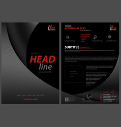 Black leaflet template with bent squared strips vector