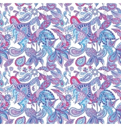 Blue and Pink Ethnic Pattern vector image