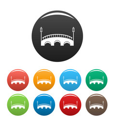 bridge icons set color vector image