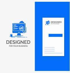 Business logo for analytics board presentation vector