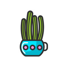 cactus in pot house plant indoor flower isolated vector image