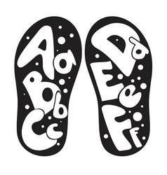 childrens shoes alphabet vector image
