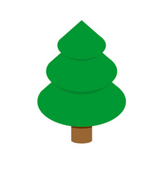 christmas tree isometric style fir geometry for vector image