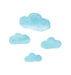 cloud watercolor design elements vector image