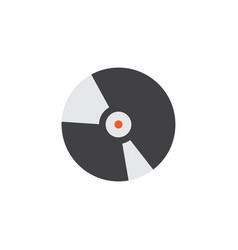 compact disk flat icon symbol premium quality vector image