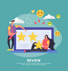 customer activity review background vector image