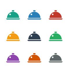 Dish icon white background vector