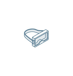 diving mask and snorkel isometric icon 3d line vector image