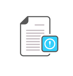 document exclamation mark file page warning icon vector image