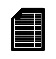 Document file format isolated icon vector