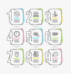 Education idea best manager and time icons vector