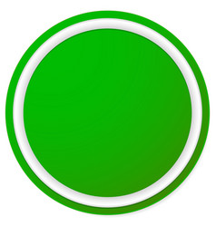 empty circle button badge background isolated on vector image