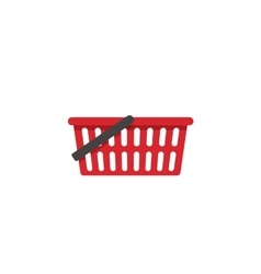 Empty shopping basket icon isolated vector image