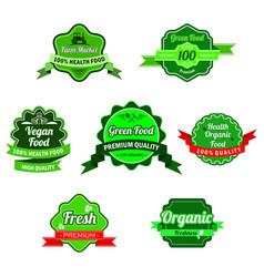 farm market logo natural organic organic products vector image