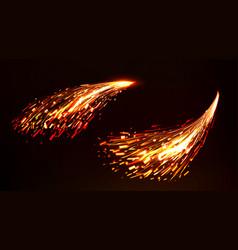 Fire sparks metal welding iron cutting vector