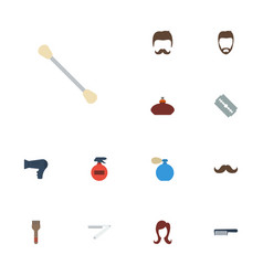 Flat icons perfume spray blade and other vector