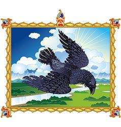 Folk Raven vector
