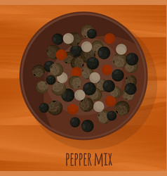 fragrant pepper mix flat design icon vector image