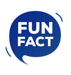 Fun fact speech bubble flat simplify style vector