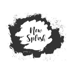 hand made splash vector image