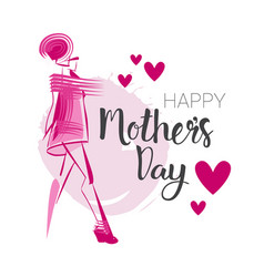 Happy mothers day background holiday greeting card vector