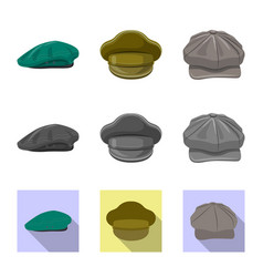 Headgear and cap symbol vector
