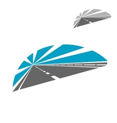 Highway icon with blue sky vector