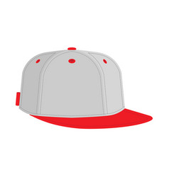 hip hop or rapper baseball cap vector image