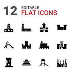 Historical icons vector