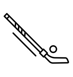 hockey puck and stick icon outline style vector image